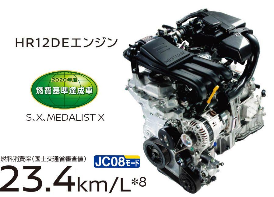 ノート1.2Lエンジン(e-power搭載車)