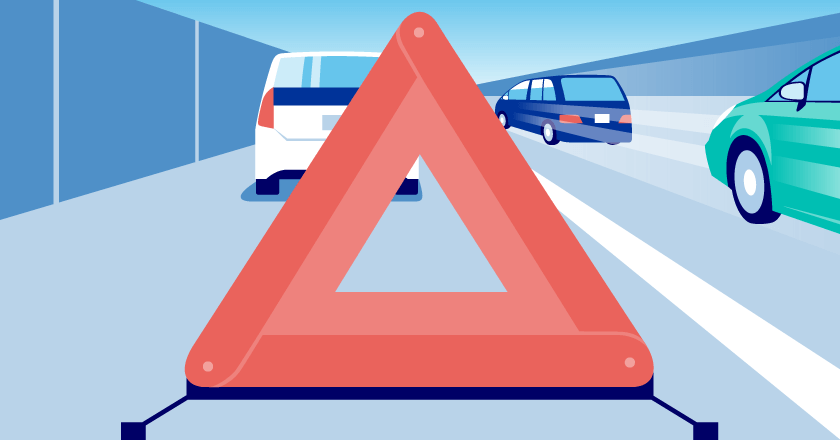 子供の運転 三角版