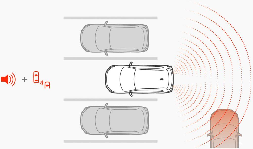 RVR 後退時車両検知警報システム[RCTA]