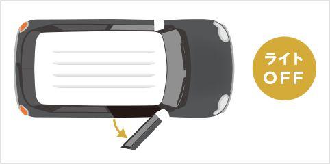 クロスビー ライト自動消灯システム