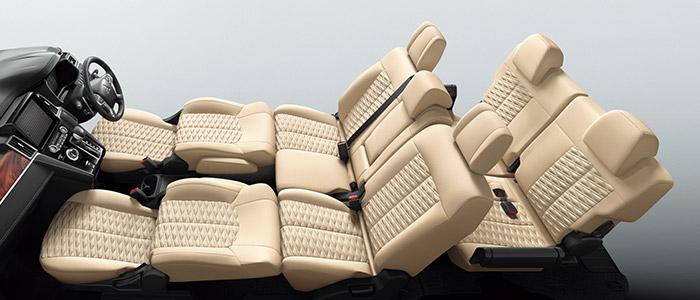 デリカd5 フロントシート+セカンドシートフラットモード