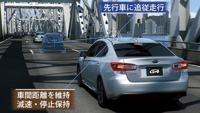 インプレッサG4 全車速追従機能付クルーズコントロール