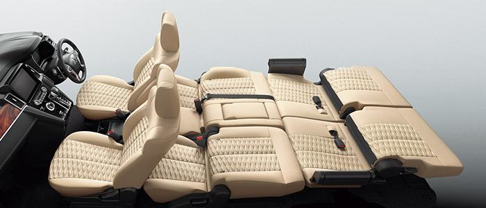 デリカd5 セカンドシート+サードシートフラットモード
