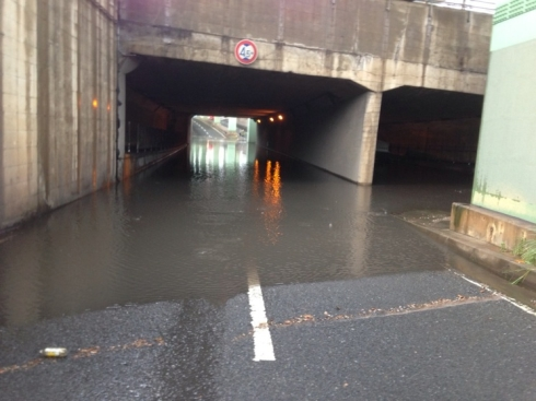 水害 アンダーパス冠水路