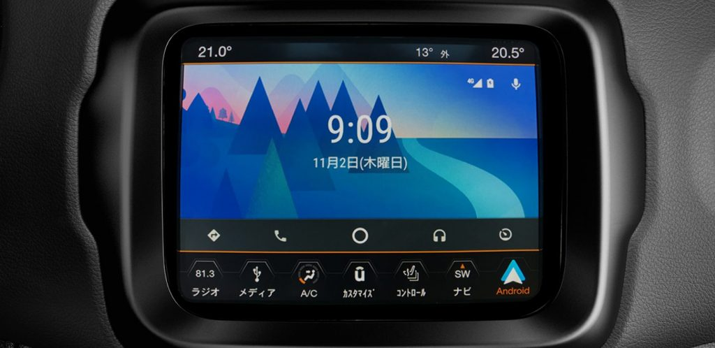 レネゲード Android Auto