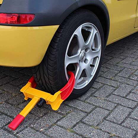 自動車盗難 タイヤロック