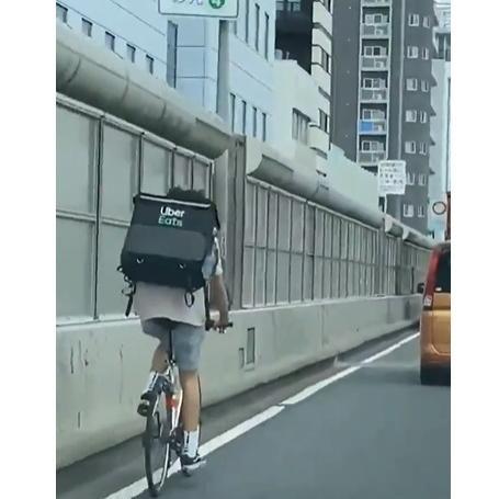 自転車ルール uber eats