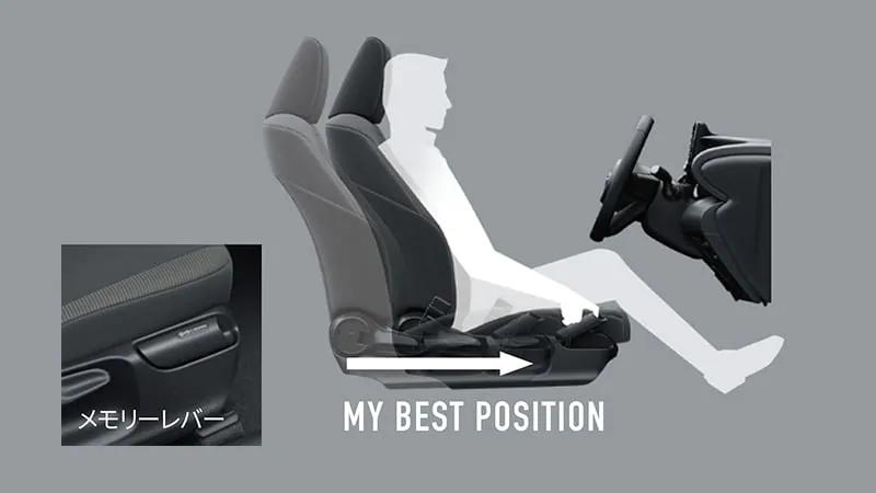 ヤリスクロス 運転席イージーリターン機能