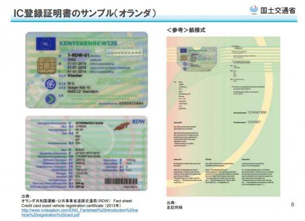 車検ドライブスルー オランダIC登録証明書