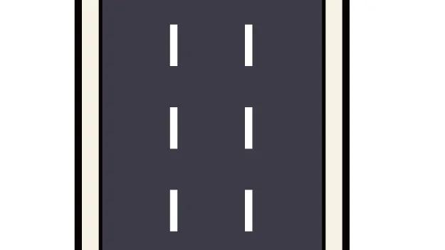 交通違反 白色破線