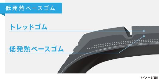 スタッドレスタイヤ1 低発熱ベースゴム