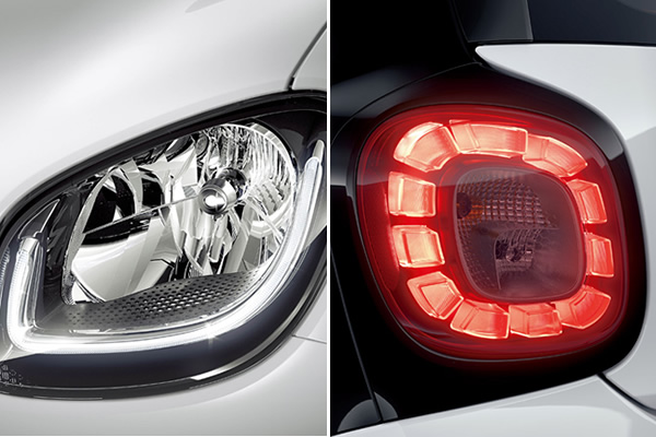 フォーフォー LEDガイド付ヘッドライト&LEDテールライト