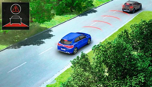 メガーヌ SDW(Safety Distance Warning)車間距離警報エマージェンシーブレーキサポート(アクティブブレーキ)