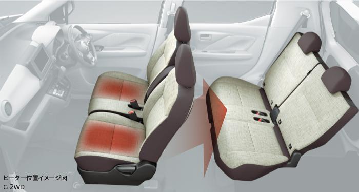 ekワゴン シートヒーター(運転席&助手席)&リヤヒーターダクト