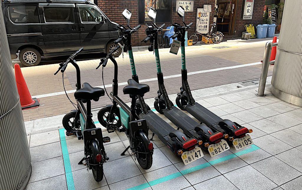 電動キックボード シェアリング